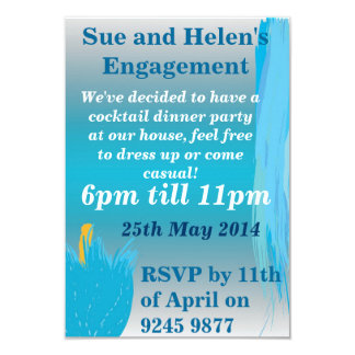 Blue and Flowery Invites