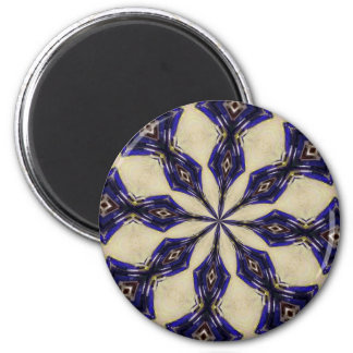 Blue and Garnet Kaliedoscope Magnet