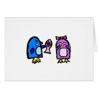 Blue and Giggles note card