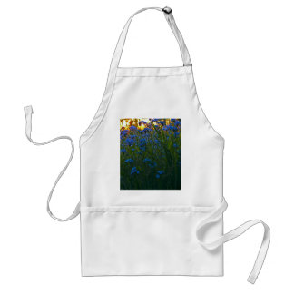 blue and gold adult apron