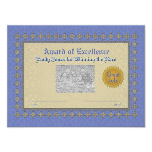 Blue and Gold Award of Excellence Print