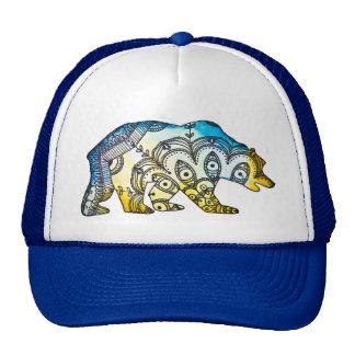 Blue and Gold Bear Snapback By Megaflora Mesh Hats