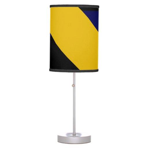 Blue and Gold Boomrocket Desk Lamp
