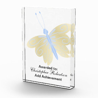 Blue And Gold Butterfly Award