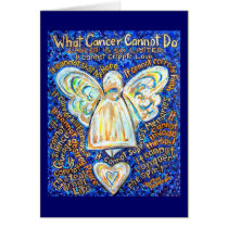 Blue and Gold Cancer Angel Card