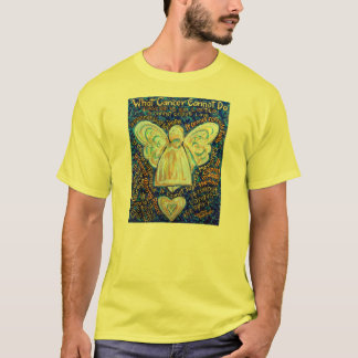Blue and Gold Cancer Angel Custom Team Shirt