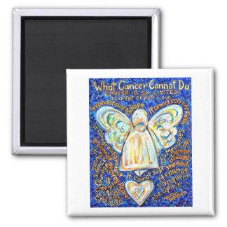 Blue and Gold Cancer Angel Magnet