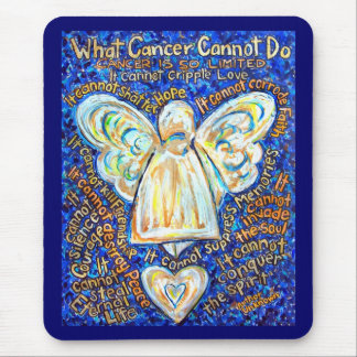 Blue and Gold Cancer Angel Mousepad