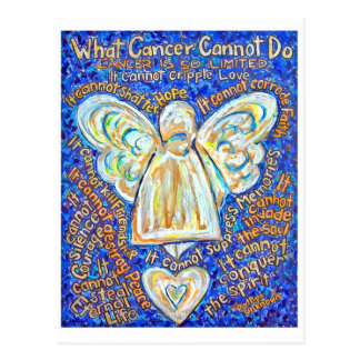 Blue and Gold Cancer Angel Postcard