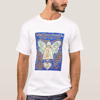 Blue and Gold Cancer Angel T-shirt (Back is Blank)