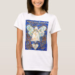 Blue and Gold Cancer Angel T-shirts