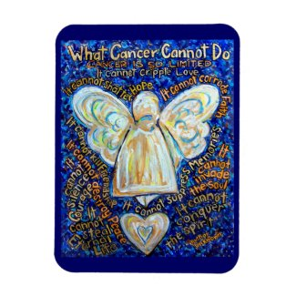 Blue and Gold Cancer Cannot Do Angel Magnet