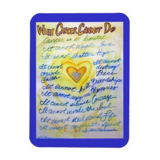 Blue and Gold Cancer Cannot Do Heart Magnet