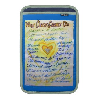 Blue and Gold Cancer Cannot Do iPad Sleeve Case