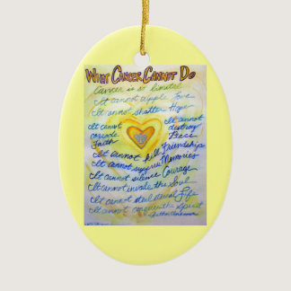 Blue and Gold Cancer Heart Ornament Customized