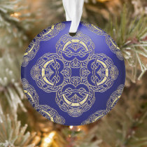 Blue and Gold Celtic knot