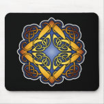 Blue and Gold Celtic Knotwork Mouse Pad
