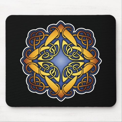 Blue and Gold Celtic Knotwork