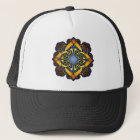 Blue and Gold Celtic Knotwork Trucker Hat