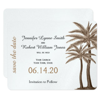 Blue and Gold Compass Rose Wedding Save the Date Card
