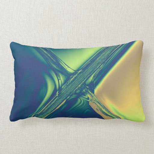 Blue and Gold Crossing Throw Pillows