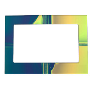 Blue and Gold Crossings Magnetic Picture Frame