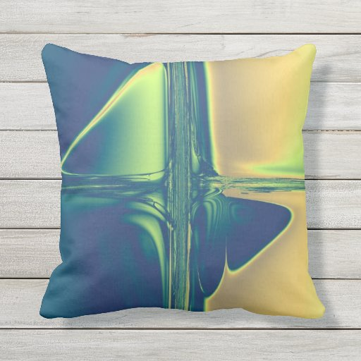 Gold Blue Decorative Pillow : Blue and Gold Crossings Throw Pillow Zazzle