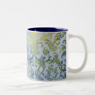 Blue and Gold Damask Mug