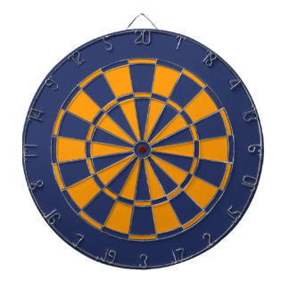 Blue and Gold Dartboard
