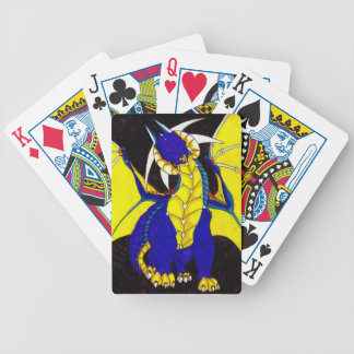 Blue and gold Dragon Playing cards
