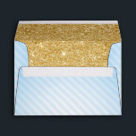 "Blue and Gold Envelopes, Twinkle Little Star Envelope<br><div class=""desc"">Twinkle Twinkle Little Star Blue and Gold Baby Shower Invitation Envelopes</div>"
