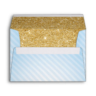 Blue and Gold Envelopes, Twinkle Little Star Envelope