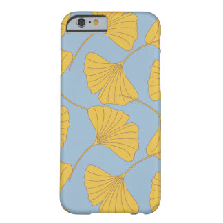 Blue and Gold Fall Ginkgo Ginko Biloba Leaves Barely There iPhone 6 Case