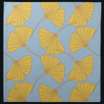 """Blue and Gold Fall Ginkgo Ginko Biloba Leaves Cloth Napkin<br><div class=""""desc"""">Blue and Gold Fall Ginkgo Ginko Biloba Leaves</div>"""