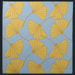 "Blue and Gold Fall Ginkgo Ginko Biloba Leaves Cloth Napkin<br><div class=""desc"">Blue and Gold Fall Ginkgo Ginko Biloba Leaves</div>"