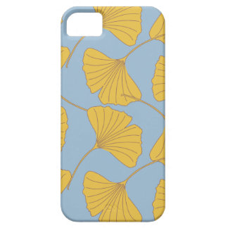 Blue and Gold Fall Ginkgo Ginko Biloba Leaves iPhone SE/5/5s Case