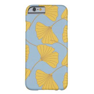 Blue and Gold Fall Ginkgo Ginko Biloba Leaves iPhone 6 Case