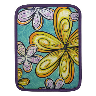 Blue and Gold Floral iPad Sleeve
