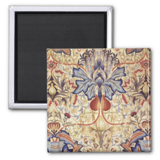 Blue And Gold Flowers 2 Inch Square Magnet