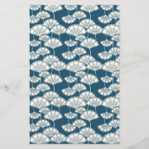 Blue and gold foil Japanese pattern