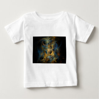 Blue and Gold Fractal Baby T-Shirt