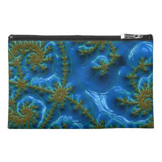 Blue and Gold Fractal Pattern Bag