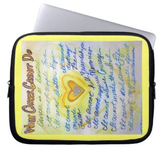 Blue and Gold Heart Computer Sleeve Electronics