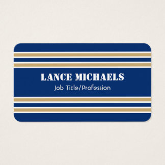 Blue and Gold Jersey Business Card
