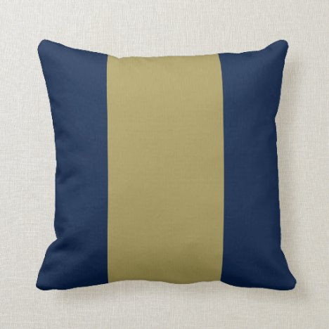 Blue and Gold Key Throw Pillow