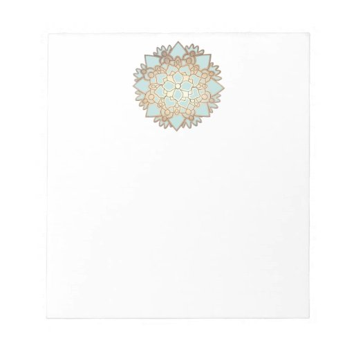 Blue and Gold Lotus Notepad
