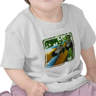Blue and Gold Macaw Baby T-Shirt