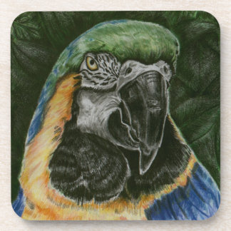 Blue and Gold Macaw Cork Coaster