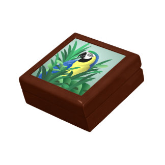 Blue and Gold Macaw Gifts Keepsake Box
