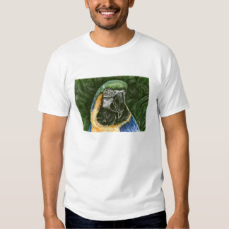 Blue and Gold Macaw Kid's Ringer Shirt